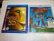 2 x 3D Blu-Ray Movies Cloudy with a Chance of Meatballs/Narnia (NEW)Bluray 3D TV