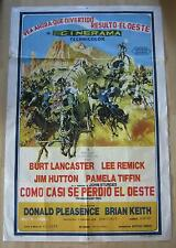 argent. movie poster The Hallelujah Trail / Como Casi Se Perdio El Oeste