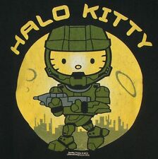 Halo Kitty Mashup Video Game First-Person Shooter Hello Kitty Sanrio T-Shirt XXL