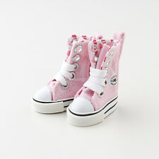 Neo Blythe Pullip Azone Doll Canvas Sneakers Micro Shoes - Light Pink