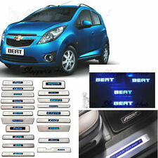 Car Door LED Sill Scuff Plate FootSteps for Chevrolet Beat