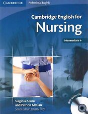 Cambridge Professional ENGLISH FOR NURSING Intermediate Plus with Audio CD's NEW