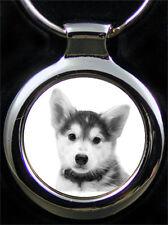 Husky Schlüsselanhänger Husky Hund als Fotogravur inkl. Textgravur