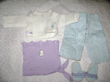 """AMERICAN GIRL DOLL 18"""" COCONUT OUTFIT SET PANTS SHIRT JACKET SHOES BLUE RETIRED"""