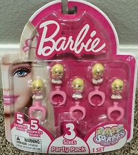 Squinkies 5 Rings Barbie Series 3 Party Pack Party Favors NIP