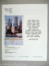 Christo Art Gallery Exhibit PRINT AD - 1990 ~~ Lower Manhattan Wrapped Buildings