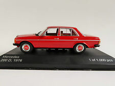 Mercedes-benz 200 d 1976 w123 rojo 1/43 Whitebox wb173 mercedes e-class
