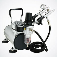 NEW Professional Air Compressor System & Dual-Action Spray Gun Gravity Feed Set