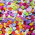 100 Pcs Assorted Mix Buttons Arts Crafts Card Making Scrapbook Sewing 15mm DIY