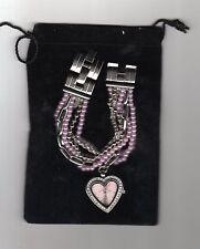orologio con  bracciale tipo perle p030 colore rosa