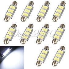 10x 42MM 9 LED 5630 SMD ERROR FREE CANBUS Festoon Dome Bulb Light Super White