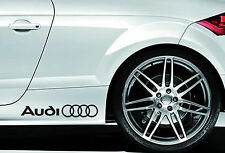 2 X AUDI CAR VINYL STICKERS STICKER RINGS GRAPHICS DECALS LOGO