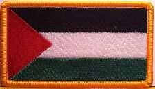 PALESTINE Flag Military Patch With VELCRO® Brand Fastener Gold Emblem #813