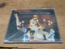 MADONNA - DON'T CRY FOR ME ARGENTINA !!!SLIM JEWEL CASE!!! RARE CD !!!!!