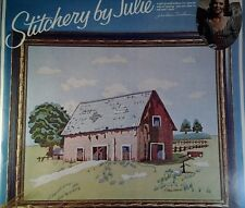 The Red Barn 16 X 29 Paragon Stitchery 1975 Kit  A5000 Pres Eisenhower Open Pack