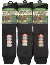 2 PAIRS WELLINGTON BOOT SOCKS DAVID JAMES GOLD EDITION CALF LENGTH SIZE UK 6 -11