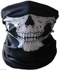 New Skull Half Face Bandana Skeleton Ski Motorcycle Biker Paintball Mask Scarf