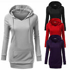 Womens V Neck Casual Pullover Hoodie Sweatshirt Sweater Coat Hooded Jumper Top