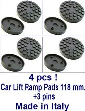 SET OF 4 PADS Ravaglioli 2 Post Car Lift Ramp Pads - 118 mm +3 pins -REAL RUBBER