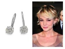 Get The Look!~~2 Ct Round CZ Leverback Dangle Drop Sterling Silver 925 Earrings!