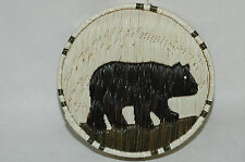 Canada First Nations Inuit PorcupineQuill Birch Bark lidded basket Mary Shawana