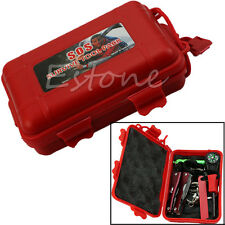 Outdoor Camping Hiking Sporting  Self Help Survival Emergency Tools Box Kit