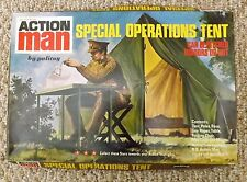 VINTAGE 1970's PALITOY ACTION MAN GI JOE SPECIAL OPERATIONS TENT w/BOX VERY NICE