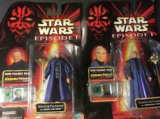 New STAR WARS Episode 1 Figures Lot Chancellor Valorum Senator Palpatine W/Chip