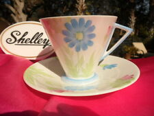 """SHELLEY DAISIES CUP AND SAUCER WITH THE RARE """"EVE"""" SHAPE  Pattern # 11985"""