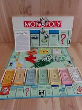 Monopoly Real Estate Trading Game VINTAGE 1985 with 8 Pewter Tokens Complete