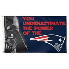 NEW ENGLAND PATRIOTS STAR WARS YOU UNDERESTIMATE THE POWER OF 3'X5' DELUXE FLAG