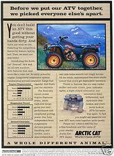 1996 Arctco Artic Cat Bearcat 454 4X4 Quad ATV Four Wheeler Print Ad