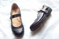 womens athletech symphony black mary jane cut out flats shoes size 6 1/2