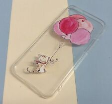 iPhone 6 6s Mobile Phone Soft Silicon Gel Case Cute Cat Kitten Balloons Xmas