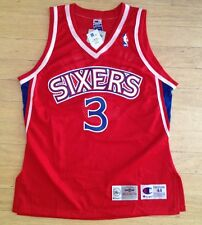 CHAMPION PHILADELPHIA SIXERS 76ERS #3 ALLEN IVERSON ROOKIE VINTAGE JERSEY NWT 44