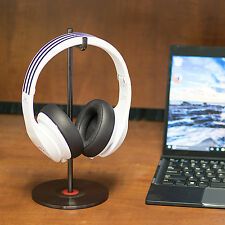 Solid Base Stainless Desktop Headphones Stand for Beats DNA Bose (Vinyl Black)
