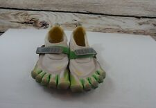 Vibram Fivefingers Men's 41 White Green Yellow Comfort Outdoor Sandals