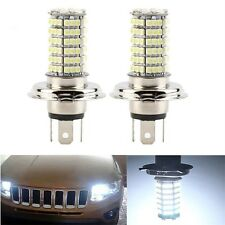 2 pcs H4 DC12V 120LED SMD High Low Beam LED Fog Light Headlight Lamp White LA