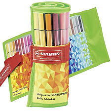 STABILO Pen 68 Fiber Felt Tip Adult Colouring Pens Fun Editon Rollerset 1mm