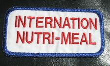 INTERNATIONAL NUTRI MEAL EMBROIDERED SEW ON PATCH FOOD ADVERTISING UNIFORM