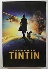 """ADVENTURES OF TINTIN - 2011 ENGLISH COMMERCIAL POSTER 24X36"""" (HERGE - SNOWY) -V"""