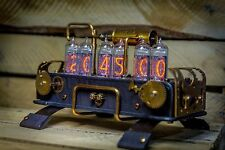 IN-14 Nixie Clock with 6 tubes Handmade Steampunk || IN-18 Z568M style || №39