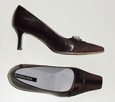 PETER KAISER brown Mid Heel (1.5-3 in.) ALL LEATHER Court Shoes size UK 4.5