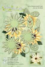 Leane Creatief cutting and embossing die set - flower 006 - 8 die set
