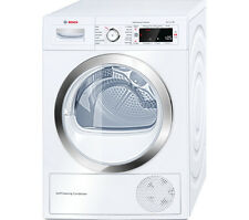 BOSCH WTW87560GB Heat Pump Condenser Tumble Dryer - White