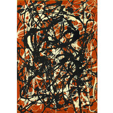 Jackson Pollock Free Form Canvas Print Paintings Poster Reproduction Copy