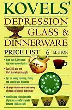 Kovel's Depression Glass & Dinnerware Price list 6th Edition Softcover Book
