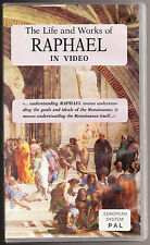 RAPHAEL - THE LIFE AND WORKS OF RAPHAEL - VHS PAL (UK) VIDEO