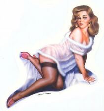 SEXY Vintage Fifties PIN-UP GIRL 50's Nostalgic STICKER/DECAL Art by CARTAGENA
