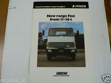 IVECO FIAT 11-16 T TRUCK VRACHTAUTO BROCHURE PROSPEKT ENGLISH 4 PAGES 120F,140F,